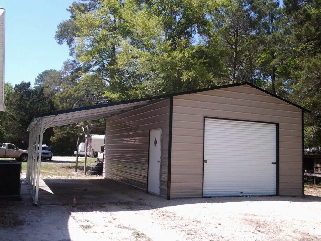 Arkansas Carports - Garage with lean to