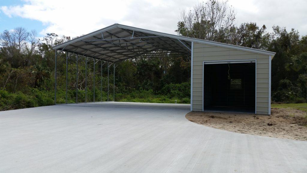Arkansas Carport - Large carport with lean to