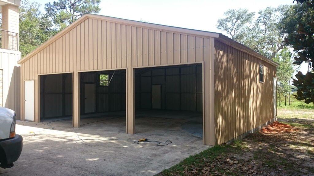 Arkansas Carports - 3 car open garage