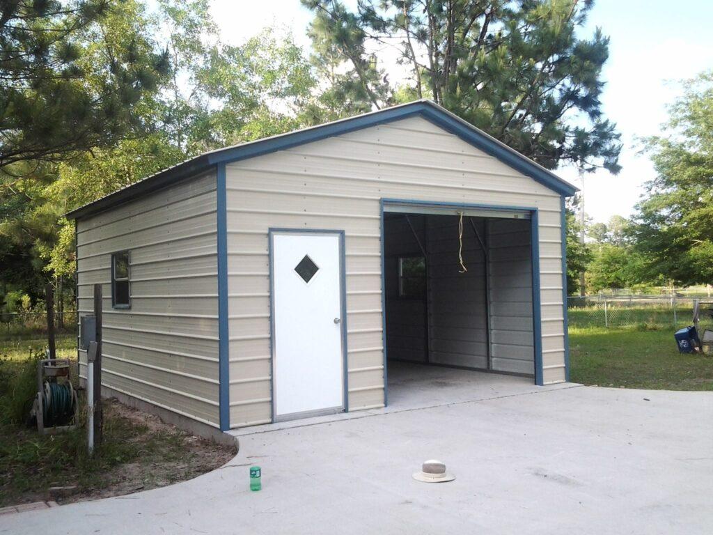 Arkansas Carports - Garage with door