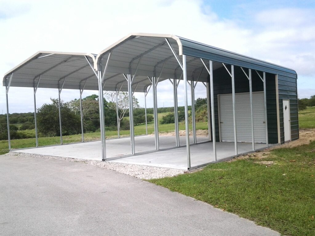 Arkansas Carports-Carport with attached garage