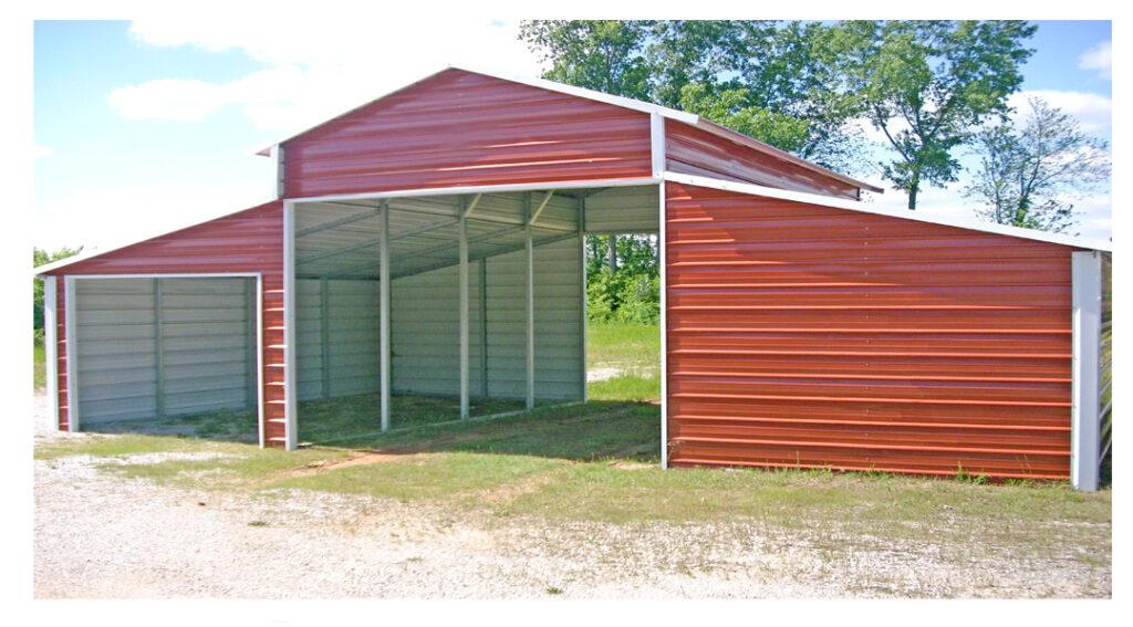 Arkansas Carports - Red Carport