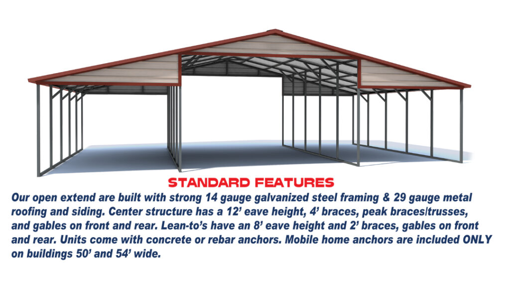 Extended Barn Standard features
