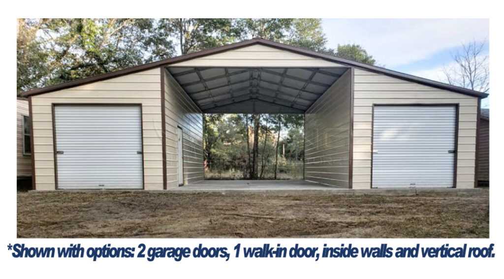 Arkansas Carports - Large A-frame with two end garages